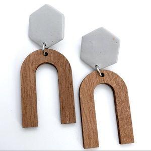 🆕Handmade Clay & Wood Earrings